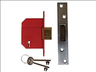 Union StrongBOLT 2100S BS 5 Lever Mortice Deadlock 81mm 3in Satin Chrome Visi