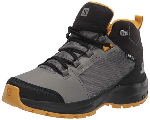 Salomon Unisex-Kinder Shoes Outward CSWP Wanderschuhe, Grün (Castor Grey/Black/Arrowwood), 32 EU