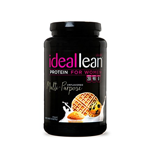 IdealLean - Nutritional Protein Powder for Women | 20g Whey Protein Isolate | Supports Weight Loss | Healthy Low Carb Shakes with Folic Acid & Vitamin D | 30 Servings (Unflavored)