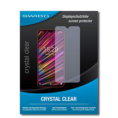 SWIDO Schutzfolie für UMIDIGI F1 [2 Stück] Kristall-Klar, Hoher Festigkeitgrad, Schutz vor Öl, Staub & Kratzer/Glasfolie, Bildschirmschutz, Bildschirmschutzfolie, Panzerglas-Folie
