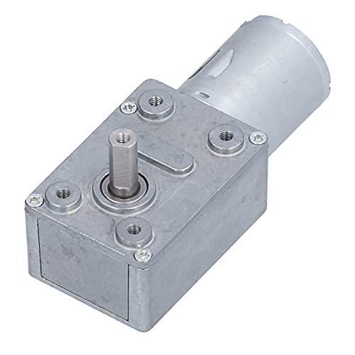 Motor de Reducción DC 24 V 100 RPM Fuerte Autobloqueo Reversible Alto Par Turbo Turbinas Motor Eléctrico con Engranaje Helicoidal