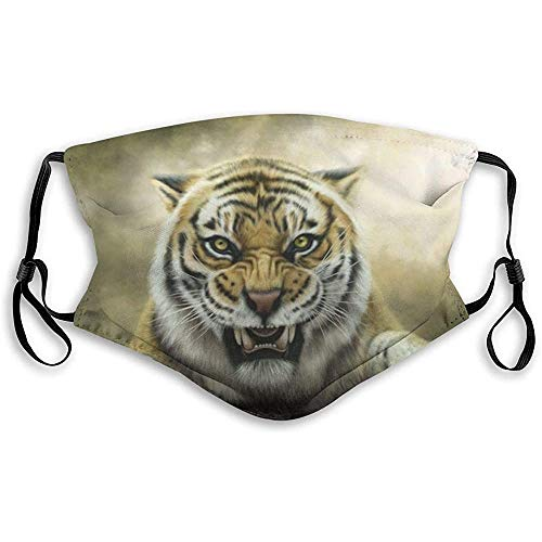 Henry Anthony Mascarilla rugiente Máscaras de boca de tigre Cubiert