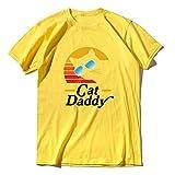 Novedad Fahion Tops Cat Daddy 80S Estilo Retro Vintage Tee Hombres T-Shirt Amante Gato Regalos Manga Corta Divertida Camiseta Unisex