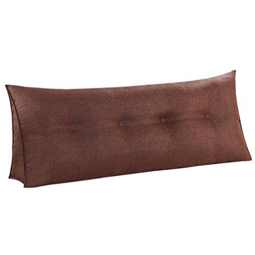 SESO UK- Sofá Cama Gran llenado Triangular Wedge Cushion dormitorio respaldo de la cama Almohada almohada de lectura Oficina almohada lumbar con cubierta extraíble ( Color : Marrón , Tamaño : 90*50*20cm )