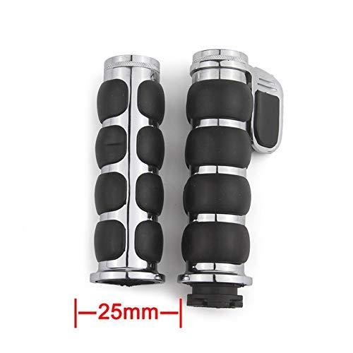 XIAOZHIWEN Universal 25mm 1' Or 22mm 7/8' Motorcycle Handlebar Handle Bar End Hand Grips for Honda Shadow ACE Spirit VT 750 1100 VTX 13 (Color : 01 25mm)