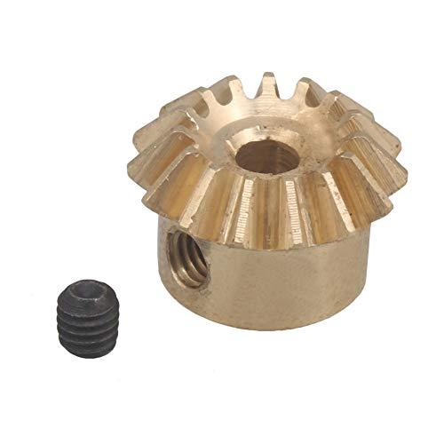 CNBTR 15 dientes cobre 0.8 módulo cónico rueda de engranaje cónico 3mm diámetro exterior 10mm