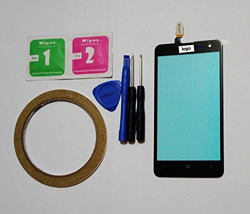 MIYI Nuevo Negro Pantalla Táctil Digitalizador Cristal Frontal Reemplazo para Nokia Lumia...