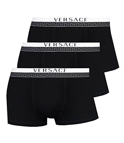 Versace Herren 3er Pack Trunk AU10188 Schwarz XL