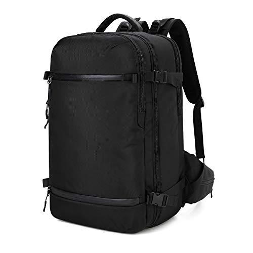 ビジネス リュック 大容量 防水 多機能 リュックサック 旅行 17.3 インチ PC バッグ ラップトップ バックパック アウトドア レインカバー付 USBポート (ベルト20 黒)