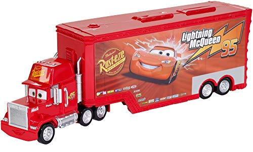 Matchbox Disney Cars 3 Mack Supercamión Transportador de coches de juguete, color surtido (Mattel FTT93)