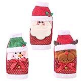 Healifty 3pcs Weihnachtsweinflaschen-Abdeckungsbeutel Sankt-Schneemannrenwein-Flaschendekoration -