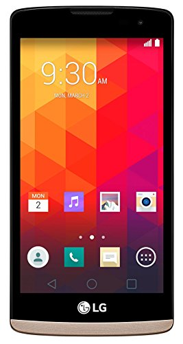 LG Leon 4G Smartphone (11,43 cm (4,5 Zoll) IPS-Display, 1,2 GHz-Quad-Core-Prozessor, 5 Megapixel-Kamera, LTE, 8 GB interner Speicher, Android 5.0) gold