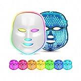 7 Couleur LED Photon Masque Facial Rides Acné Retrait Visage Rajeunissement de La Peau Du Visage De Massage Beauté Spa Dispositif (WHITE)