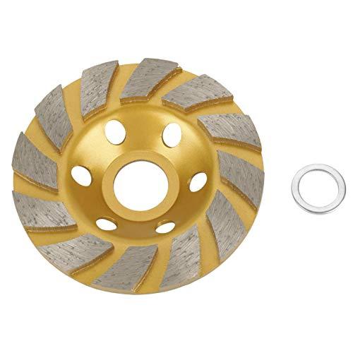 Muela abrasiva, Chacerls Disco abrasivo de piedra 100 mm * 4,5 mm Disco de muela abrasiva de segmento de diamante 6 agujeros para piedra de hormigón de mármol