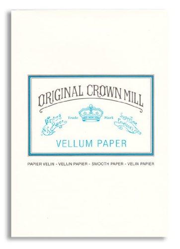 Original Crown Mill - Blocco di carta pergamena liscia, A5, 50 fogli, effetto seta