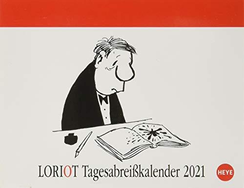 Loriot Tagesabreißkalender 2021 - Tischkalender mit perforierten Seiten - zum Aufstellen oder Aufhängen - Format 11 x 14 cm