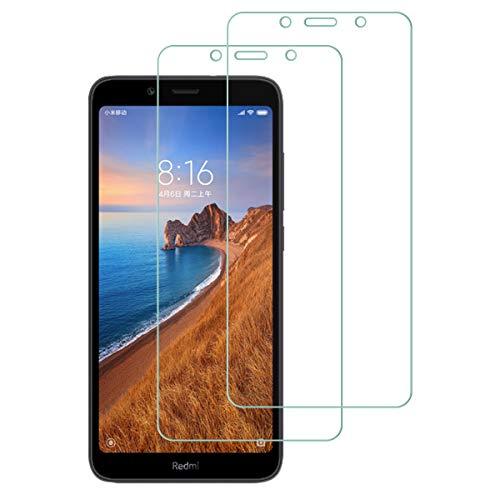 Aerku für Xiaomi Redmi 7A Panzerglas, 9H Festigkeit HD Schutzfolie Anti-Kratzer Ultra Glatte Film Bildschirmschutzfolie Blasenfreie Panzerglasfolie für Xiaomi Redmi 7A [2Stück]-Transparent