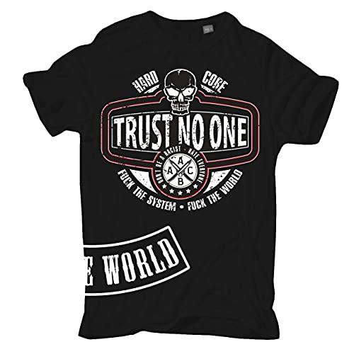 Männer und Herren T-Shirt Trust no one Größe S - 5XL