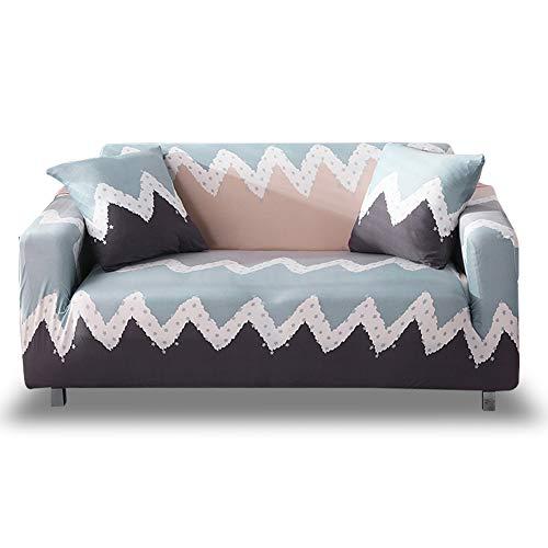 Hotniu 1 Stuk Bedrukte Stretch Sofa Cover Elastische Polyester Spandex Stoelhoezen Universele Fitted Sofa Slipcover voor bank Meubelbescherming