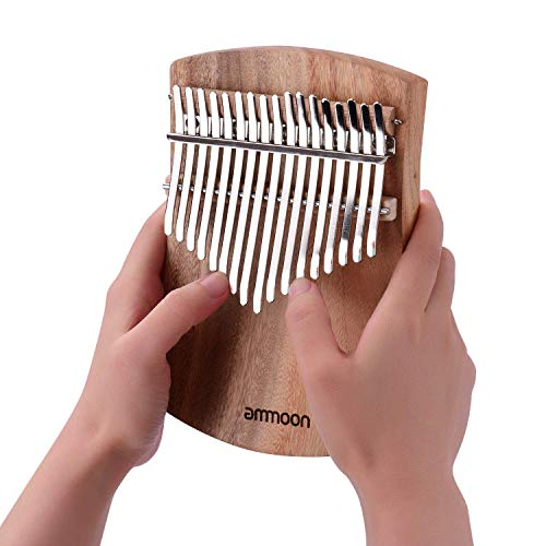 Ammoon Karimba 17 keys Kalimba Thumb Piano, 17 keys, Soundfinger Piano, Karimba Parts, Includes Exclusive Bag, Gift for Children and Piano Beginners