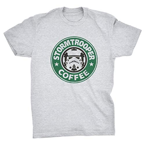 Stormtrooper Coffee Logo T-Shirt (Grey, XXL)