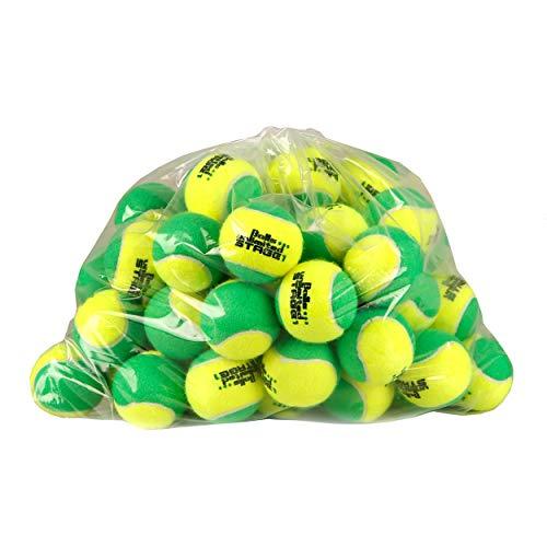 トップスピン (60球入) ボールズアンリミテッド (Balls unlimited) グリーンボール (ステージ1) (ツートンタイプ) (Stage 1 tennis ball) ジュニアテニスボール