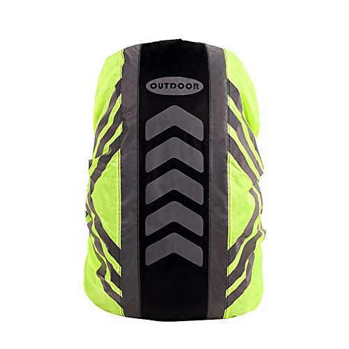 DONGKER - Funda impermeable para mochila reflectante (20 – 55 L, de alta visibilidad, ajustable, resistente al polvo, resistente al agua, para ciclismo al aire libre, senderismo, escalada