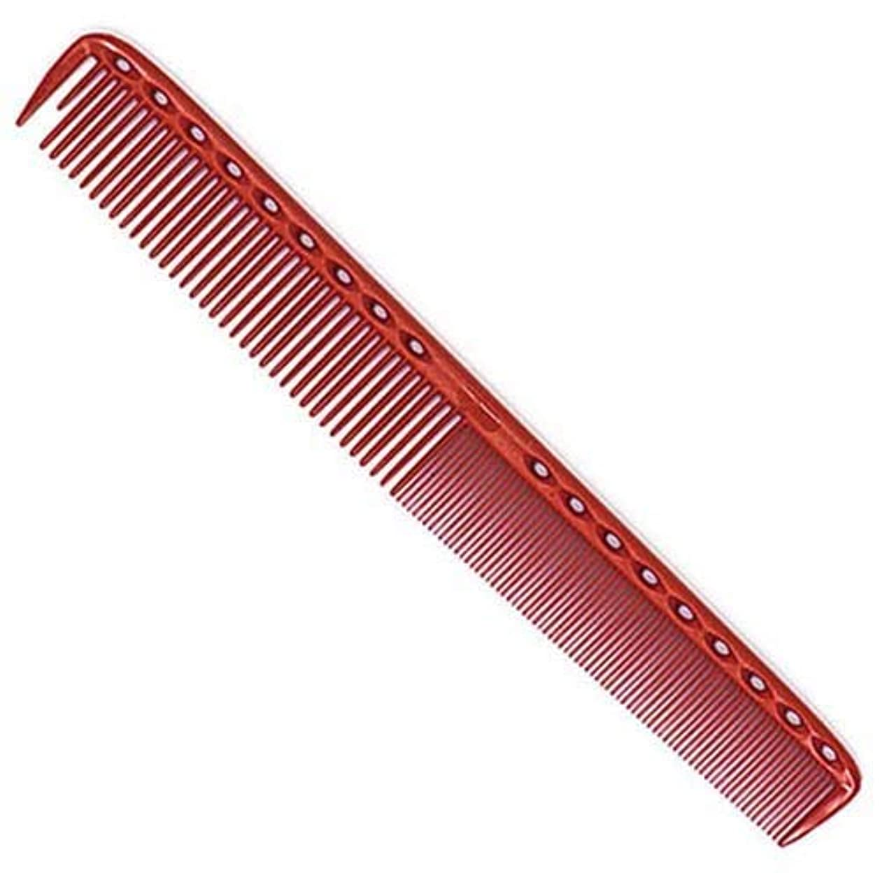 蜂繕う泣き叫ぶYS Park 335 Fine Cutting Comb (Extra Long) - Red [並行輸入品]