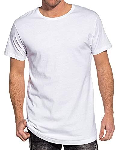 Urban Classics Herren Shaped Long Tee T-Shirt, Weiß (Weiß 220), S