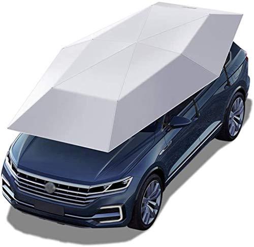 Carpa Coche Semi-automático paraguas del coche Tienda de campaña, Hogares móviles de la tapa portátil Muelle, plegable con Anti-UV, a prueba de agua, a prueba de viento, nieve, tormenta, granizo, caíd