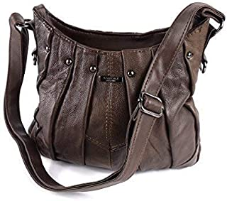 The Leather Emporium Ladies Bang On Trend Vintage Handbag Tote Bag Soft Real Leather By Lorenz 3731
