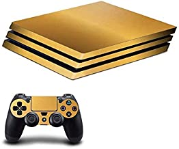 Gold Chrome Skin Sticker for Sony Playstation 4 (Pro) and Remote Controllers