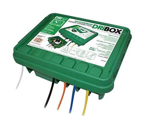 330 GREEN - Plastic Enclosure, SocketBoxDri-Box Weatherproof Electrical Box, Plastic (Pack of 2) (330 GREEN)