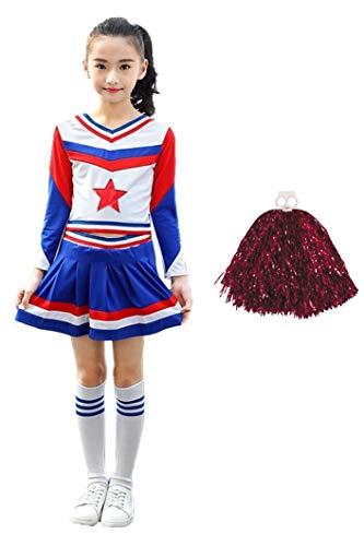 LOLANTA Disfraz de Cheerleader Niña Trajes de Animadoras para Niña