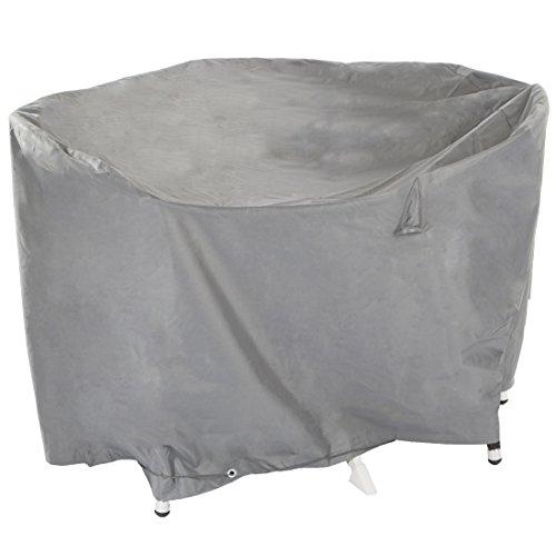 Ultranatura Gewebeschutzhülle für Gartenmöbel Sylt, robuste Abdeckung aus wasserdichtem Polyester, Durchmesser ca. 200 cm, Höhe ca. 94 cm