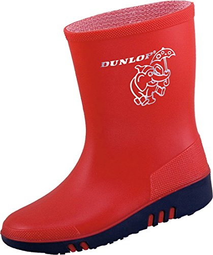 Dunlop Kinder Gummistiefel Mini (24, rot)
