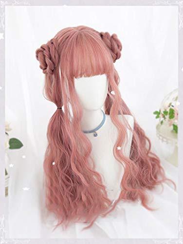 Lolita peluca de partido del traje de Halloween Cosplay Anime preciosos rizos suaves