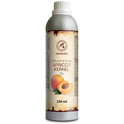 Aceite de albaricoque 250ml - Prunus Armeniaca Kernel Oil - Italia - 100% puro y natural - los mejores beneficios para la piel - Cabello - Cuerpo - Cuidado facial - Masaje