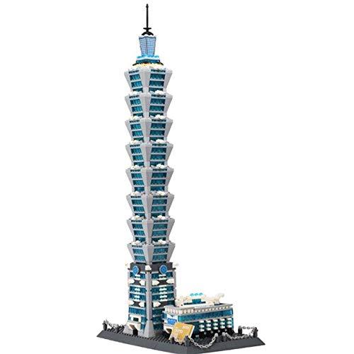 Buy Bargain ADRAZA - 1511pcs Famous Building Taipei 101 Building Block Brick Toy 8019