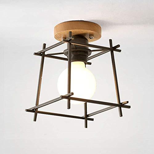 SHENLIJUAN La lámpara de Techo lámpara de la Personalidad Creativa del hogar nórdicos Living Channel Corredor Sala de la lámpara de Pasillo Luces, Base de Madera