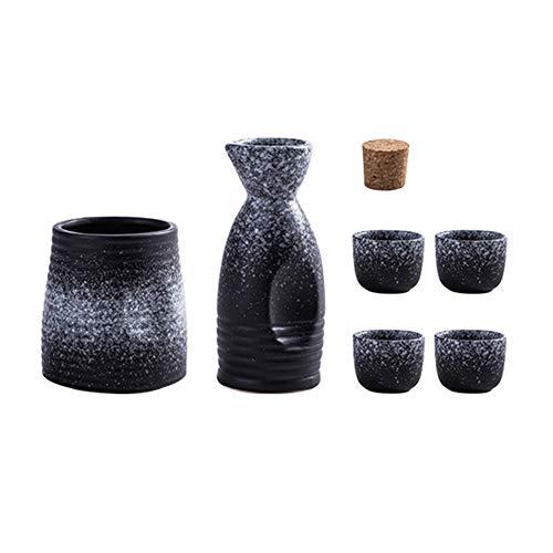 N / B 6 PCS Japanese Sake Conjunto con Material cerámico amigable con el Medio Ambiente más cálido, Hornear de Alta Temperatura, no tóxico y sin Sabor, sin desvanecimiento