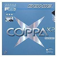 DONIC(ドニック) 卓球 コッパ X2 裏ソフトラバー ブラック 1.8 AL053