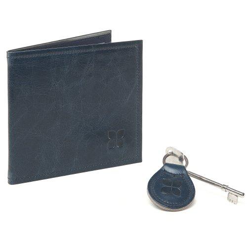 Blue Badge Company Italiaanse lederen parkeerportemonnee en echte Radar gehandicapte wc-sleutel met bijpassende sleutelhanger