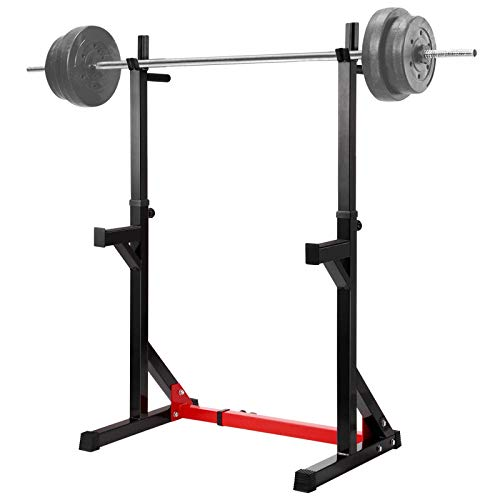 Ollieroo Multi-Function Barbell Rack Dip Stand Height Adjustable Barbell Stand Weight Lifting Rack Gym Family Fitness Squat Rack Weight Lifting Bench Press Dipping Station