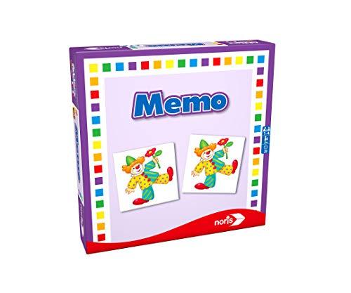 Noris 608985665 Memo, eines der beliebtesten Kinderspiele der Welt, Reise und Mitbringspiel, ab 3 Jahren
