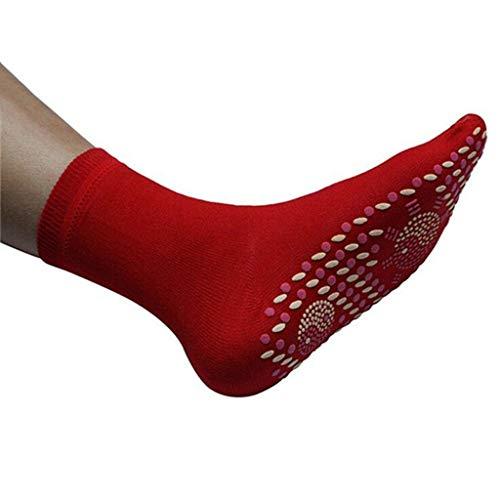 Beheizte Socken, magnetisch selbstheizende Turmalin-Winterwärmsocken, Fußwärmer für Frauen und Männer, Fußmassage, Anti-Müdigkeit, Gesundheitssocken