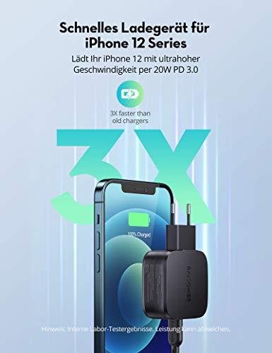20W USB C Ladegerät für iPhone 12, RAVPower 30W 2 Port PD USB C Netzteil für iPhone 12 Mini/12 Pro Max MagSafe iPad Pro Galaxy Switch MacBook Air und mehr