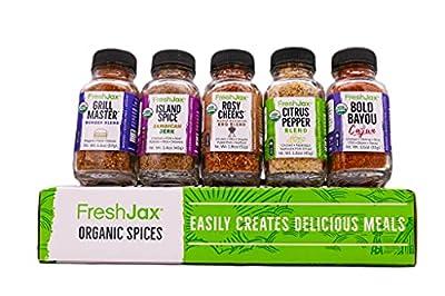 FreshJax Gourmet Spices and Seasonings, Gift Box (Set of 5)