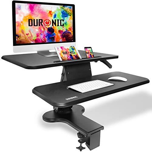 Duronic DM05D13 BK Escritorio Standing Desk para Monitor con Altura Ajustable de 12 a...
