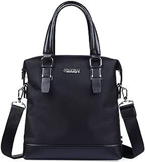 Men's Oxford Cloth Men's Horizontal Version Handbag Business Briefcase Shoulder Diagonal Package JAUROUXIYUJINn (Color : Black)